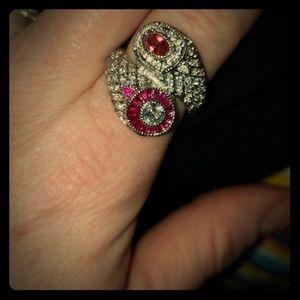 Jewelry - Sterling Silver Swarovski crystal ring
